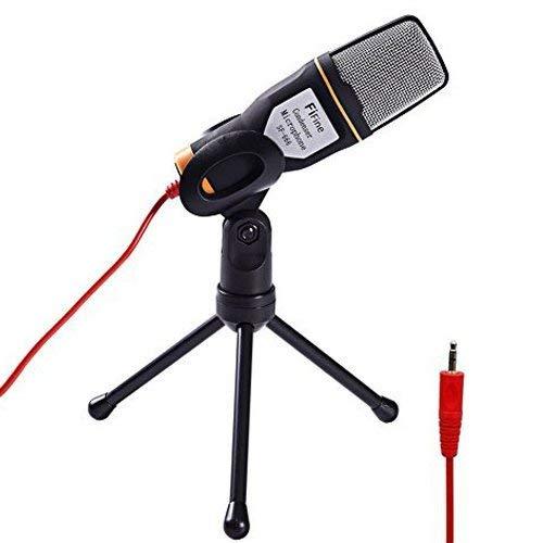 Computer Mikrofon 3,5mm Fifine Plug und Play PC Mikrofon mit Stativ Ständer für Podcasting, Online-Chats. (sf666)