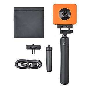 SALKOBLACK Madventure 360 Grad 4k WiFi Panorama Action Kamera – IP67 Staub- und Wasserdicht – Sechs-Achsen-Bildstabilisator – Sphere Sportkamera mit Sony IMX 206 Sensor