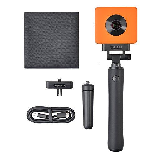 SALKOBLACK Madventure 360 Grad 4k WiFi Panorama Action Kamera - IP67 Staub- und Wasserdicht - Sechs-Achsen-Bildstabilisator - Sphere Sportkamera mit Sony IMX 206 Sensor