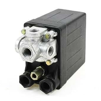 550V 20A 175PSI 4-Port 1 Phase Interrupteur de pression pour compresseur d'air