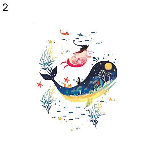 Oce180anYLV Dibujos Animados Pescado Sea World Impreso Lavabo WC Cuenco Pegatinas DIY baño Pegatinas