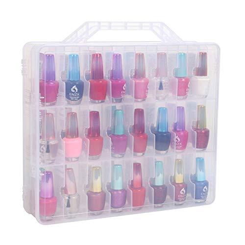 JOAN DOMINGUEZ Organizer Nagellack-Halter Display Container Aufbewahrung 48 Flaschen DIY Salon