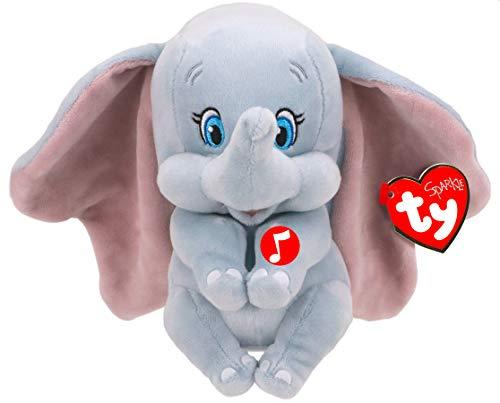 TY 41095 - Dumbo W/Sound Beanie BABIE-Disney, Mehrfarbig