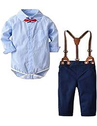 ace588ecbf93a MRULIC Haut t-Shirt Barboteuse Pantalons Ensembles de Pantalons bébé garçon  Vêtements Définit Bodys et Combinaisons Garçon…