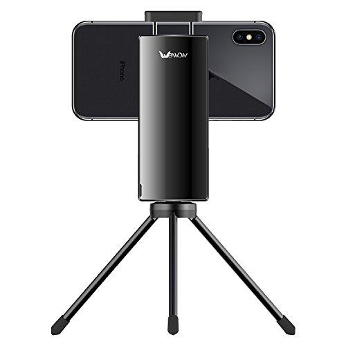 abilisator Selfie Stick - 1- Achsen Handy Gimbal for iPhone Huawei Samsung Rückspiegel Horizontaler Schuss vertikaler Schuss Mini Pocket Selfie Stick by Wewow S1(Schwarz) ()