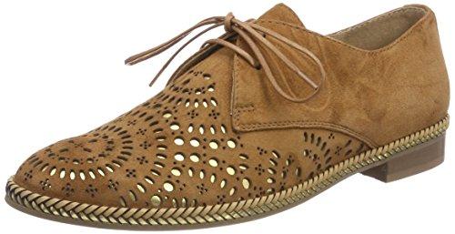 Pinto Di Blu Condor, Chaussures À Lacets Derby Femme Marron (camel)