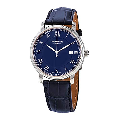 MONTBLANC OROLOGIO TRADITION AUTOMATIC DATE BLUE DIAL 117829