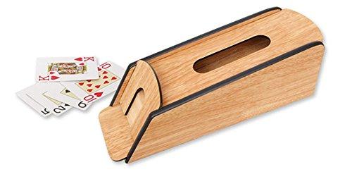 Dispensador CARTAS naipes de madera. 31 cm. Dakota. 1 unidad