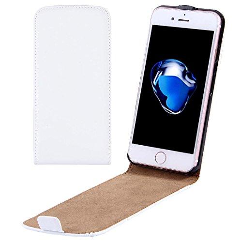 Casse del telefono mobile & Cover, Per il caso di cuoio di iPhone 7 Plus verticale flip Genuine Split ( Colore : Bianco )