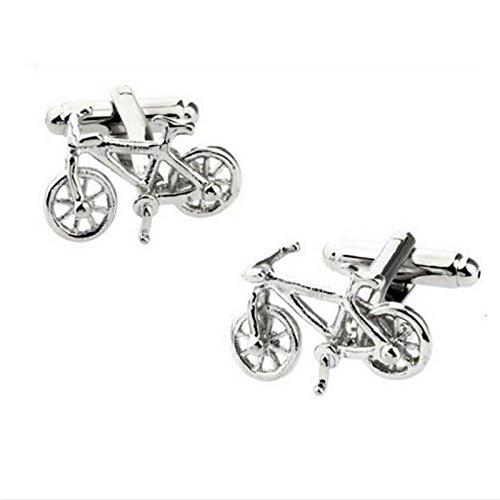 Da.Wa 1 par de Clip de Corbata Gemelos de Bicicleta de Plata Diseño de la Bici Gemelos para Camisa de Hombre Mejores Regalos