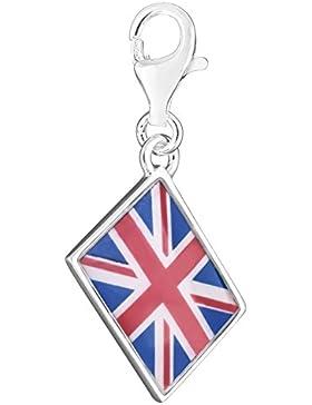 Thomas Sabo–Thomas-Blockade Großbritannien Flagge Anhänger Silber/Blau Emaille 1080–007–10