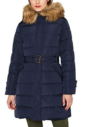 ESPRIT Damen 099Ee1G007 Mantel, Blau (Navy 400), Medium (Herstellergröße: M)