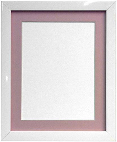 Frames By Post Weiß Foto Bild Poster Rahmen mit rosa Halterung, plastik, 20mm Frame, 6