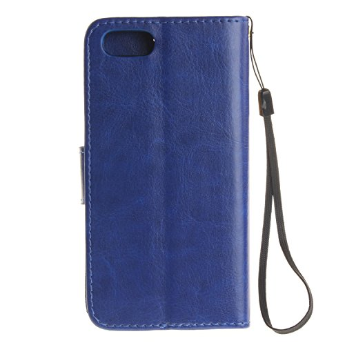 iPhone Case Cover Solide étui en cuir PU de couleur poupée amant de gravure affaire portefeuille stand cas pour iPhone 7 ( Color : 2 , Size : IPhone 7 ) 8