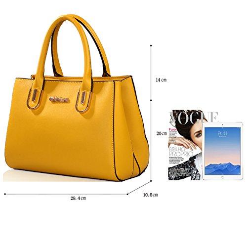 Sunas Ms. sacchetto spalla semplice della borsa selvaggia pacchetto diagonale giallo