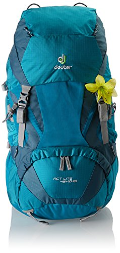 Deuter Damen Trekkingrucksack ACT Lite 45 plus 10 SL Rucksack, Petrol-Arctic, 75 x 30 x 25 cm -