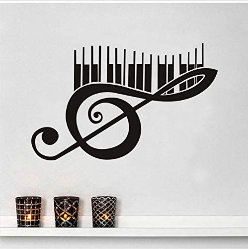 Notes Aufkleber schwarz Kunst wandbilder hauptdekorationen DIY PVC abnehmbare wandaufkleber kinderzimmer 59x37 cm ()