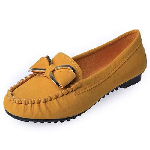Bfmyxgs Damenstiefeletten Leder Einfache Flache Schuhe Der Normallacke Der Eleganten Frau Metallbogen-Abschlussball-Bankettschuhe