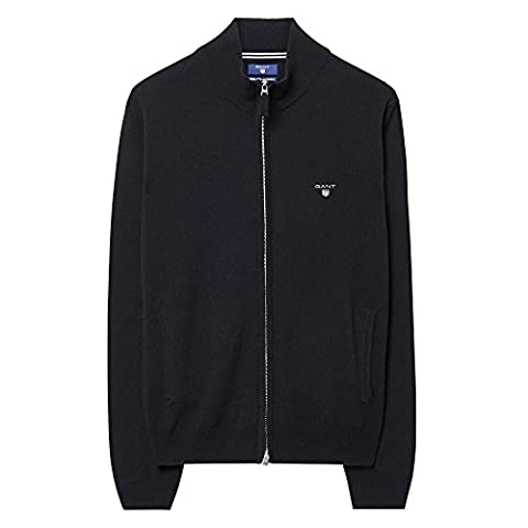 GANT Super Fine Lambswool Mens Zip Cardigan M Black