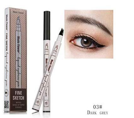 Tattoo Eyebrow Pen mit vier Tipps Langlebig Waterproof Brow Gel für Augen Make-up (3#)