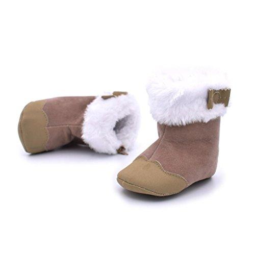 Clode® Kleinkind Baby Mädchen Warm Snow Boots Soft-Krippe Schuhe Kleinkind Stiefel Braun