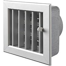 Rejilla Col Blanco ventilación integrado 140 x 130 mm punta 100 mm. para chimeneas,