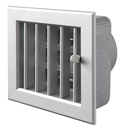 Rejilla Col Blanco ventilación integrado 140x 130mm punta 100mm. para chimeneas, completa...