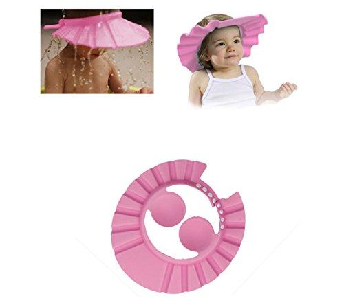 Baby Shampoo Cap Augenschutz Dusche Badeschutz weicher Kappen Hut für Baby Kinder (Pink)