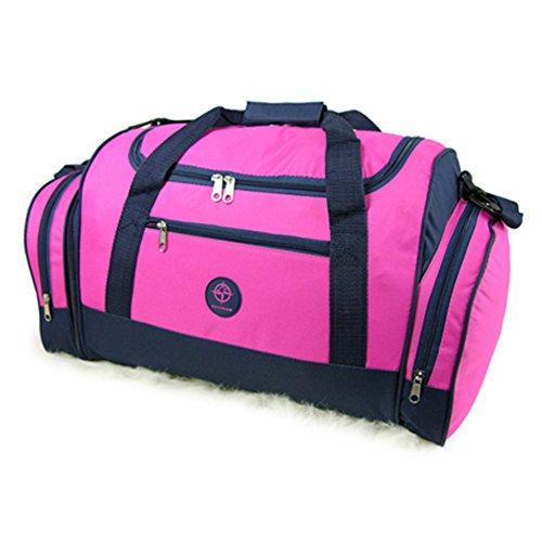 Friendz Trendz-Travel Gepäckstücke Fracht Velcro Griff Bindung Holdall Duffle Bag (grey) pink