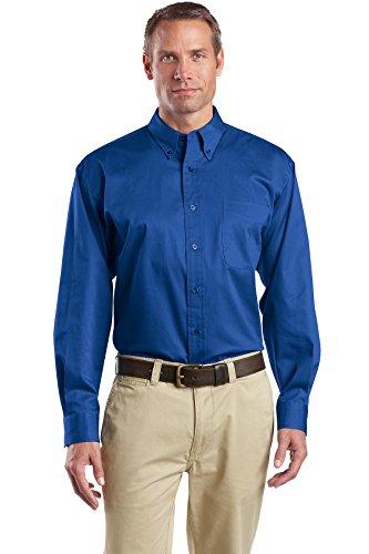 Pierre Angulaire hommes de Canot pneumatique à manches longues bouton en sergé pour homme Bleu - bleu marine