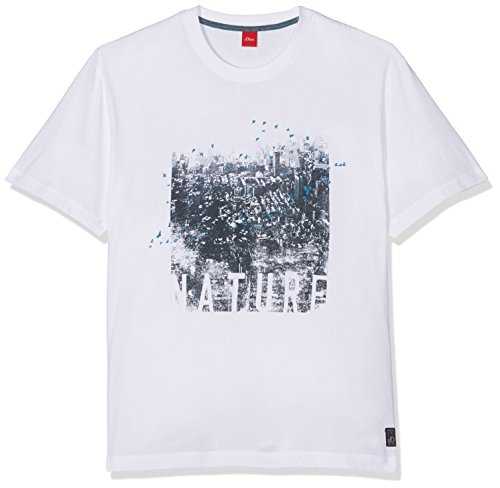 s.Oliver Big Size Herren T-Shirt Schwarz (White 01A1)