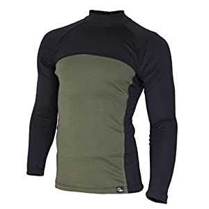 41LjmybTUZL. SS300  - Raptor hunting solutions Merino Wool Thermal Underwear Base Layer Top Long Sleeve Shirt Black Green