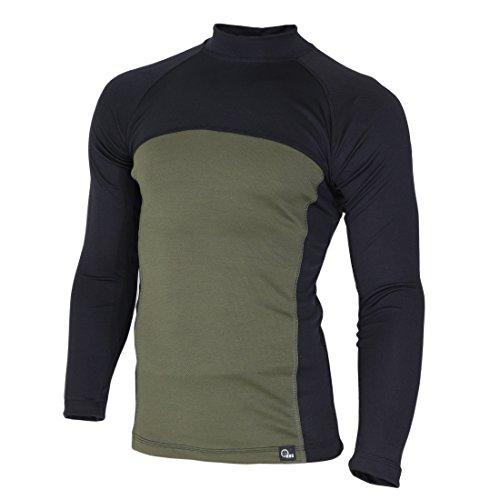 41LjmybTUZL. SS500  - Raptor hunting solutions Merino Wool Thermal Underwear Base Layer Top Long Sleeve Shirt Black Green