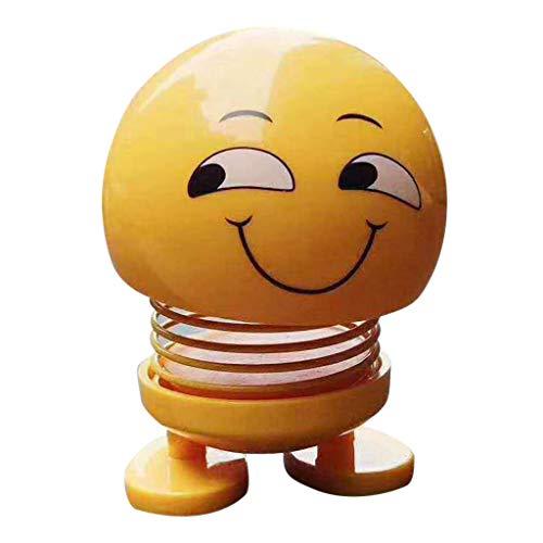 TianranRT Frühling Niedlich Smiley Puppe Auto Verzierung Innenraum Armaturenbrett Dekor Hüpfen Spielzeug (A)