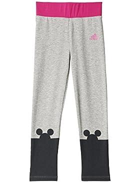 adidas LK DY TM Tight - Pantalón para niños, color negro / gris / rosa
