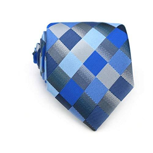 KrawatteMode Herren Krawatte 8 cm Blau Seide Krawatten Floral Dot Jacquard GewebtKrawatten Für Männer Formale Geschäfts Hochzeit Bräutigam-D