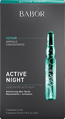 BABOR AMPOULE CONCENTRATES Active Night, Gesichtspflege für die Nacht, Regeneration der Haut, mit Algen- und Trüffelextrakten, frischer Teint, 7 x 2 ml