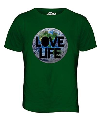 CandyMix Liebe Leben Erde Herren T Shirt Flaschengrün