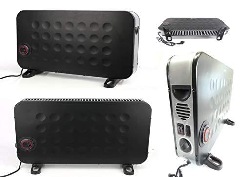 Heizlüfter Heizkonvektor Elektroheizer mit max. Heizleistung 2000 Watt. 3 einstellbare Heizstufen 750 Watt,1250 Watt und 2000 Watt. Drehschalter einstellbares Thermostat. -
