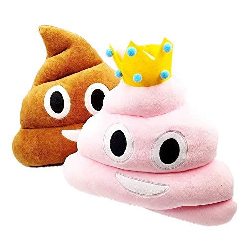 miley Kackhaufen 36 cm Kuschelkissen Plüsch kackhaufen kissen Poop kackhaufen Emoji Spielzeug Weihnachten Geburtstagsgeschenk für Kinder Erwachsene, Rosa & braun ()
