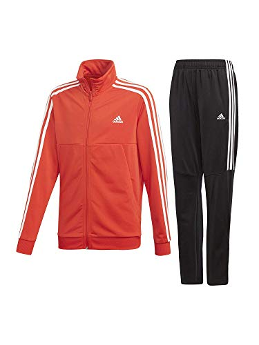 ca45b6b5d459bf adidas Tiro Tracksuits, Tuta Bambino, Active Rosso/Bianco, 13-14A