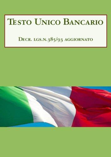 testo-unico-bancario-italian-edition