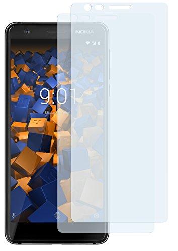 mumbi Schutzfolie kompatibel mit Nokia 3.1 2018 Folie klar, Bildschirmschutzfolie (2x)