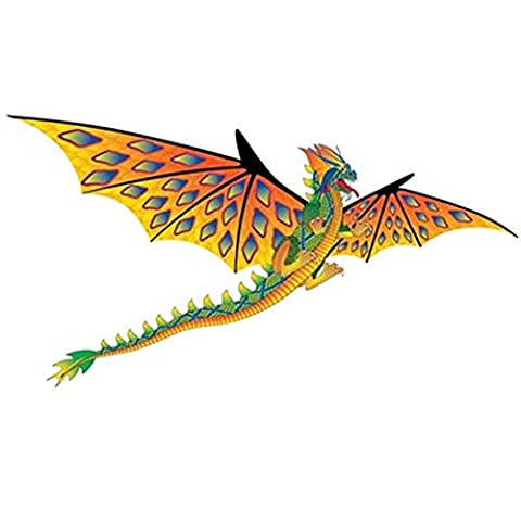 Dragon Kite. Yellow Fire Dragon Windsock. Can Be Flown From A Telescopic Flag Pole or As A Kite