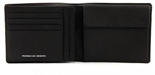 Porsche Design French Classic 3.0 BillFold H10 4090001814 Herren Geldbörsen 11x12x1 cm (B x H x T) Schwarz (Black 900)