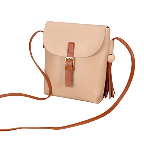 Moda Semplice Lady Messenger Bag Multi-color Brown