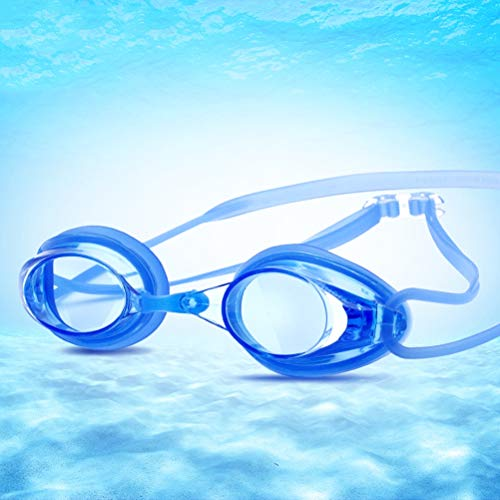 GYWY Schwimmbrille Erwachsene, Verstellbare Klarem Objektiv Schwimmbrille Ohne Leakage Wasserdichter Antibeschlag UV Schutz Triathlon Schwimmbrille für Männer Frauen,F