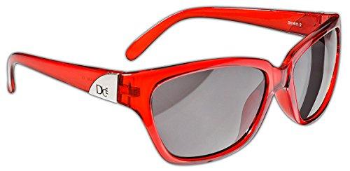 Dice Damen Sonnenbrille, Red, One Size, D01611-2