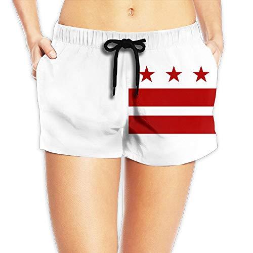WTZYXS Summer Washington D.C Flag Leisure Boardshorts Bathing Suits Sexy Hot Swimming Trunks Beach Shorts Large -