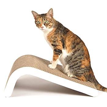 LIKEA Griffoir à Chat avec Herbe à Chat en Carton de qualité supérieure et Construction Multiples Angles de grattage pour correspondre aux préférences de Votre Chat